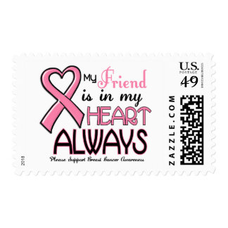 My Heart Is With My Friend BREAST CANCER Stamp