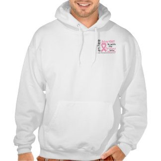 My Heart Is With My Girlfriend Breast Cancer Hooded Pullover