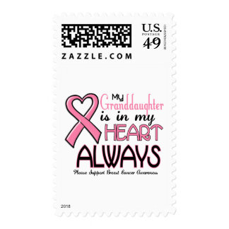 My Heart Is With My Granddaughter BREAST CANCER Postage Stamp