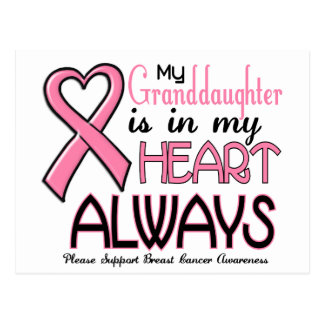 My Heart Is With My Granddaughter BREAST CANCER Post Cards