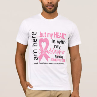 My Heart Is With My Granddaughter Breast Cancer T-Shirt