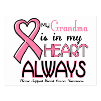 My Heart Is With My Grandma BREAST CANCER Post Cards