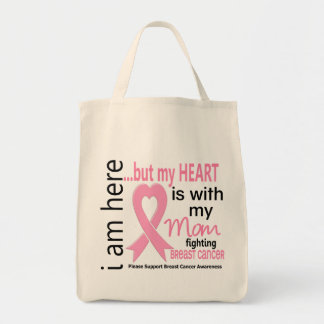 My Heart Is With My Mom Breast Cancer Tote Bag