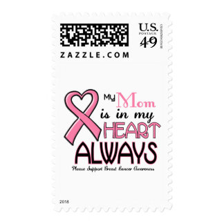 My Heart Is With My Mom BREAST CANCER Stamp