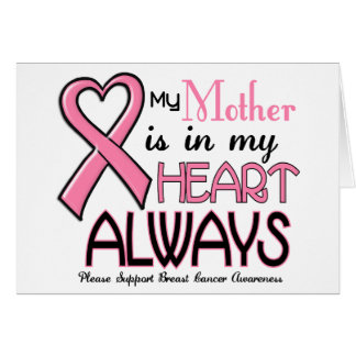 My Heart Is With My Mother BREAST CANCER Cards