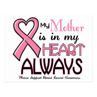 My Heart Is With My Mother BREAST CANCER Postcard