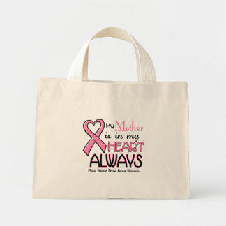 My Heart Is With My Mother BREAST CANCER Tote Bags