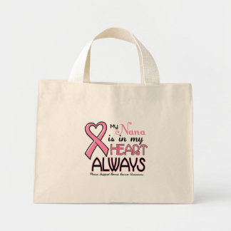 My Heart Is With My Nana BREAST CANCER Bag