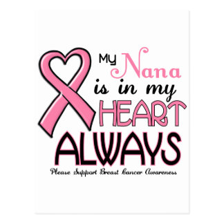 My Heart Is With My Nana BREAST CANCER Post Card