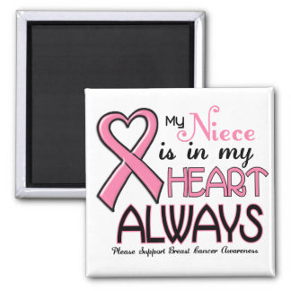 My Heart Is With My Niece BREAST CANCER Fridge Magnets