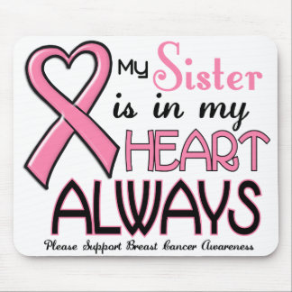 My Heart Is With My Sister BREAST CANCER Mouse Pad