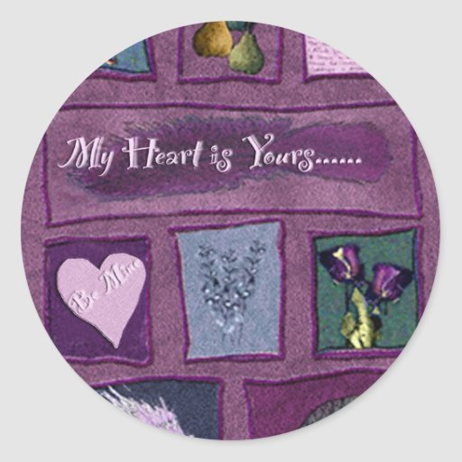 My Heart is Yours Classic Round Sticker