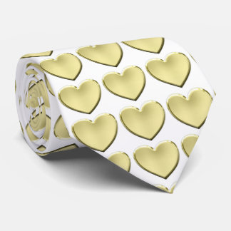 My heart is yours! Gold hearts. Tie