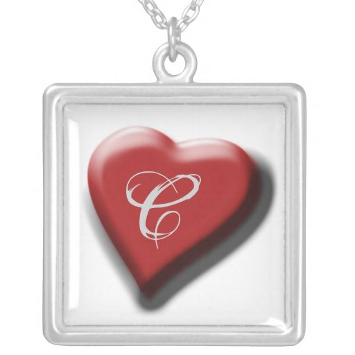 My heart is yours monogram love forever custom jewelry