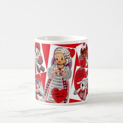 """""""My Heart is Yours"""" Vintage Valentines Mug"""
