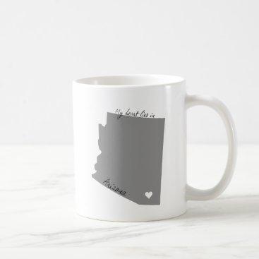 USA Themed My Heart Lies in Arizona Coffee Mug