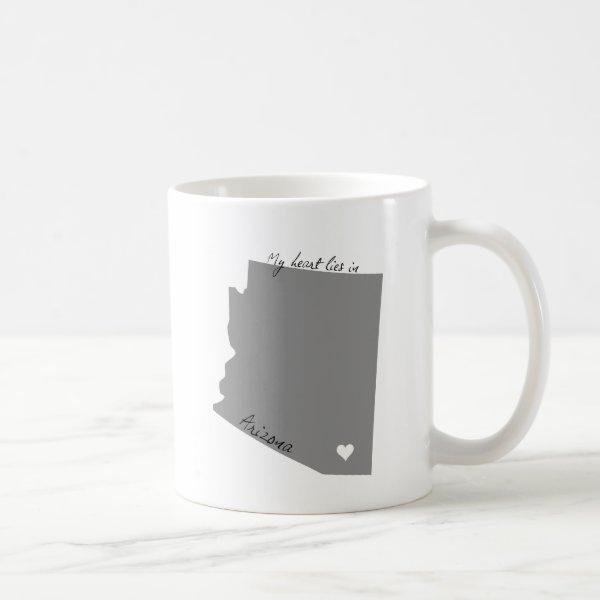 My Heart Lies in Arizona Coffee Mug