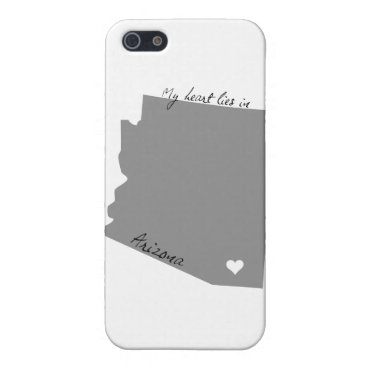 USA Themed My Heart Lies in Arizona iPhone SE/5/5s Case