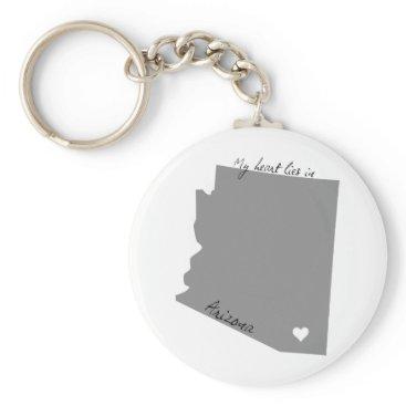 USA Themed My Heart Lies in Arizona Keychain
