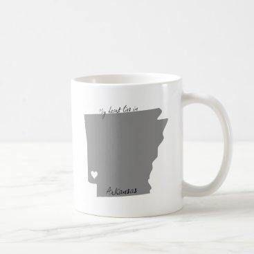 USA Themed My Heart Lies in Arkansas Coffee Mug