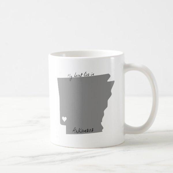 My Heart Lies in Arkansas Coffee Mug