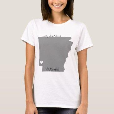 USA Themed My Heart Lies in Arkansas T-Shirt