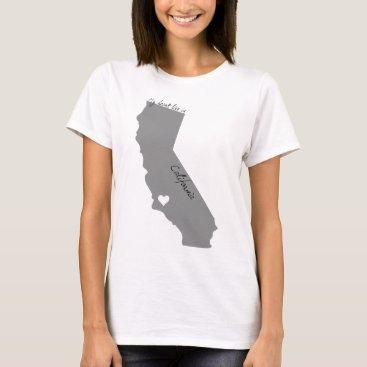USA Themed My Heart Lies in Californa T-Shirt