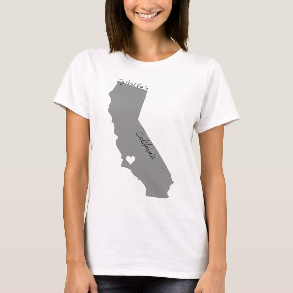 My Heart Lies in Californa T-Shirt