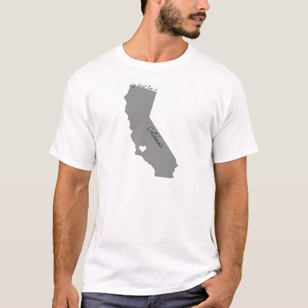 My Heart Lies in Californa T-Shirt
