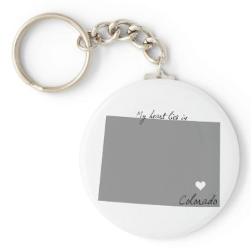 USA Themed My Heart Lies in Colorado Keychain