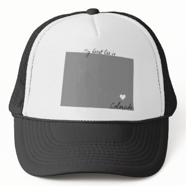 USA Themed My Heart Lies in Colorado Trucker Hat