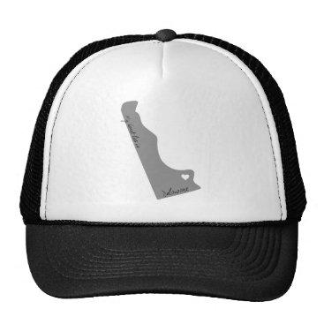 USA Themed My Heart Lies in Delaware Trucker Hat