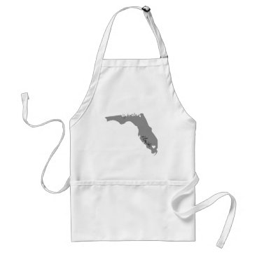 USA Themed My Heart Lies in Florida Adult Apron