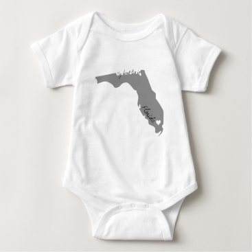 USA Themed My Heart Lies in Florida Baby Bodysuit