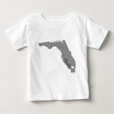USA Themed My Heart Lies in Florida Baby T-Shirt