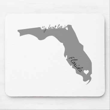USA Themed My Heart Lies in Florida Mouse Pad