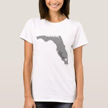 USA Themed My Heart Lies in Florida T-Shirt