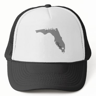 USA Themed My Heart Lies in Florida Trucker Hat