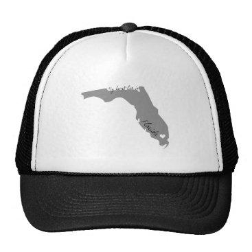 USA Themed My Heart Lies in Florida Trucker Hat