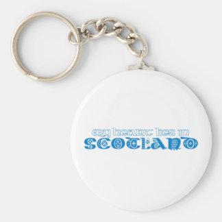 My Heart Lies in Scotland Basic Round Button Keychain
