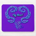 My Heart Mousepad (purple)
