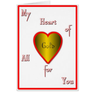My heart of Gold Card