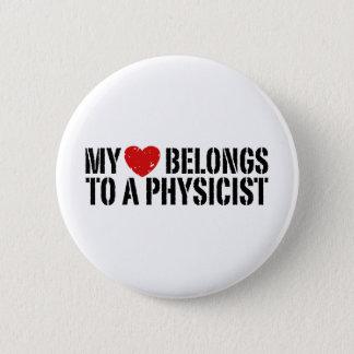 My Heart Physicist Button