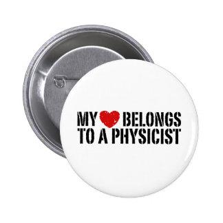 My Heart Physicist 2 Inch Round Button