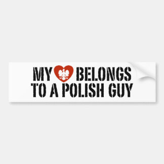My Heart Polish Guy Bumper Sticker
