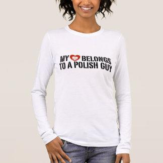 My Heart Polish Guy Long Sleeve T-Shirt