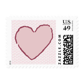 my heart postage stamp