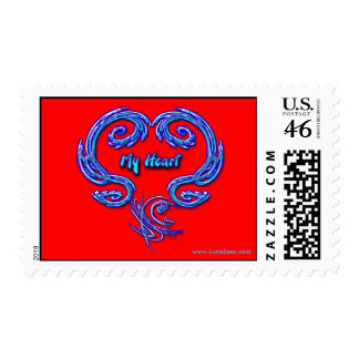 My Heart Postage (red2)