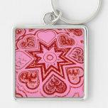 'My Heart'  Premium Keychain (Pink)