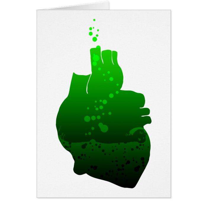 my heart pumps green beer card